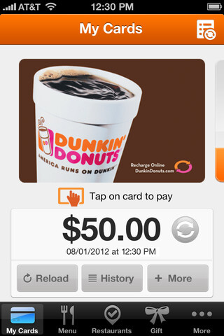 Dunkin Donuts offical app hits iPhone, iPad and Android