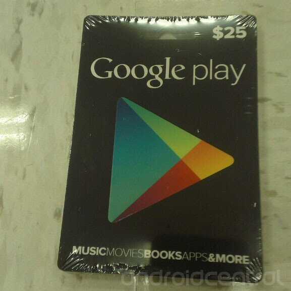 Are these the Google Play store gift cards? - Google Play store gift cards might be right around the corner, photos emerge