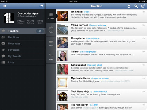 TweetCaster for iPad