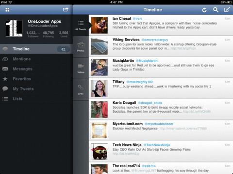TweetCaster for iPad