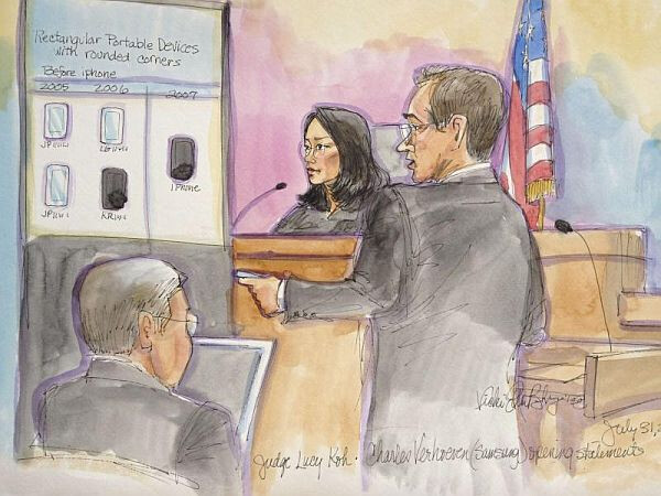 The Apple v. Samsung trial is winding down - Samsung has 46 minutes left for last day of witness testimony
