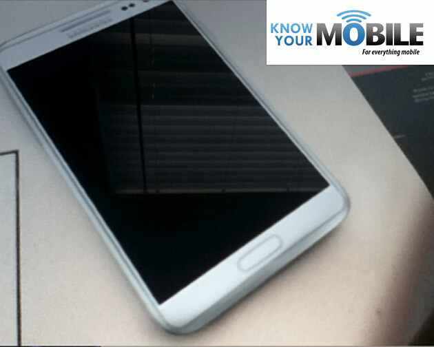 Could this be the Samsung Galaxy Note II? - Very convincing Galaxy Note II image leaks