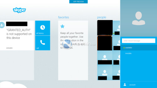 Skype's new Windows 8 interface leaks out
