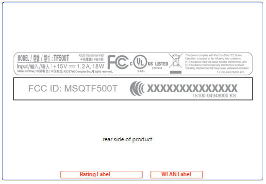 What appears to be a new mid-range tablet from ASUS has visited the FCC - New mid-range ASUS Transformer TF500T visits the FCC