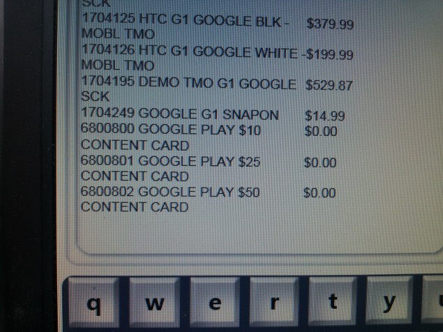A leaked promotional flyer shows that the cards will be coming to Radio Shack in three denominations (R) - Google Play gift cards found at Target; Radio Shack will also have them on sale