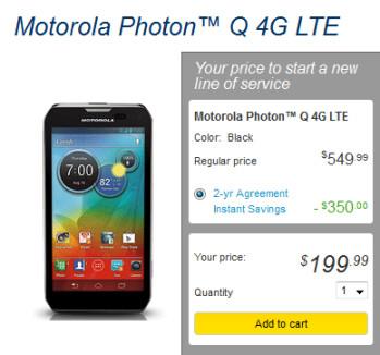 The Motorola PHOTON Q 4G LTE launches today via Sprint