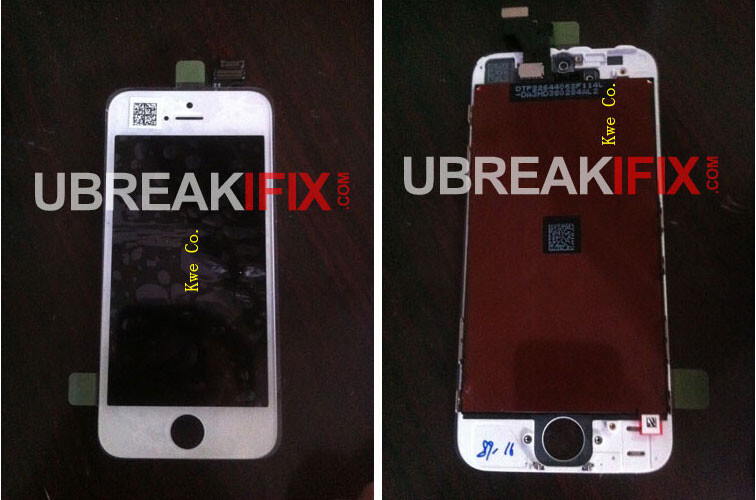 The two pictures at left and center claim to show the display assembly on the new Apple iPhone 5 while the picture at far right shows the serial numbers of the assembly and the connectors - Is this the Apple iPhone 5's display assembly?