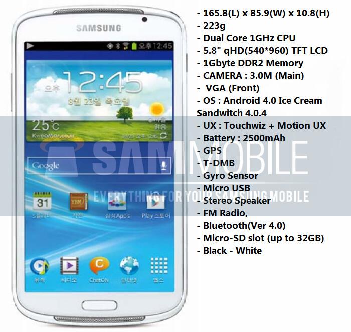 Samsung said to introduce a 5.8-inch Galaxy Player soon