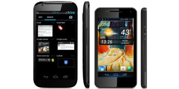 The Micromax Superfone Canvas A100 phablet at left, Micromax Superfone Pixel A90 at right