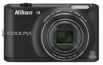 Coolpix S800c from the front