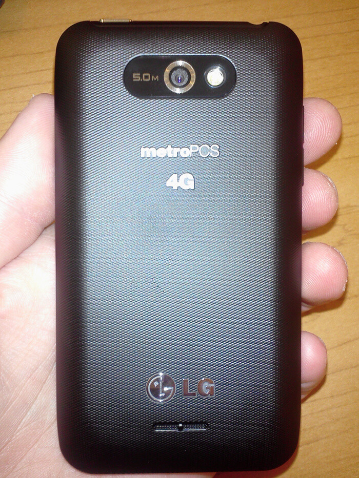 LG Motion 4G is coming to MetroPCS - LG Motion 4G for MetroPCS poses for the camera