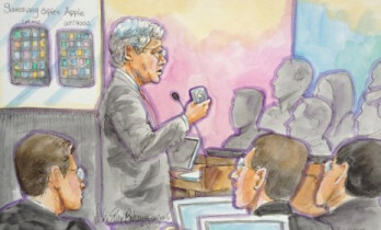 Apple's attorney Harold McElhinny gave his closing argument on Tuesday