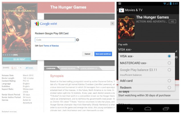 Gift cards can now be redeemed in Google Play Store - Option to redeem gift cards now showing up in Google Play Store