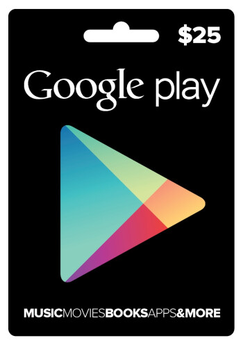 Google Play gift cards are now for sale