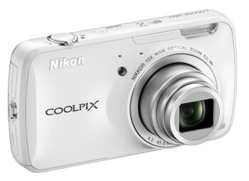 The Nikon Coolpix S800c will be available in black and white