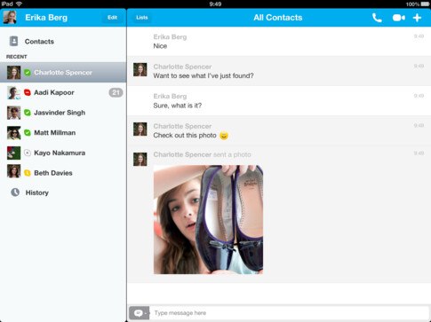 Skype update for iOS introduces photo sharing, adds performance enhancements