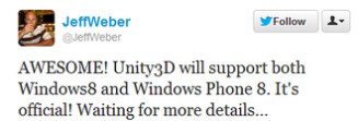 Windows Phone 8 to get high-quality 3D games thanks to Unity 3D engine support