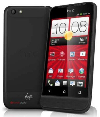 The HTC One V is also available through Virgin Mobile