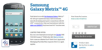 The Samsung Galaxy Metrix 4G is now available from U.S. Cellular