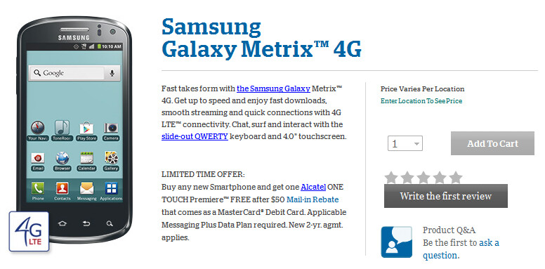 The Samsung Galaxy Metrix 4G is now available from U.S. Cellular - Samsung Galaxy Metrix 4G now available from U.S. Cellular as an entry-level LTE enabled model