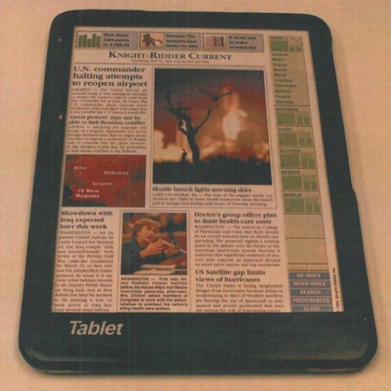 Apple reproduces 1994 tablet to prove case against Samsung