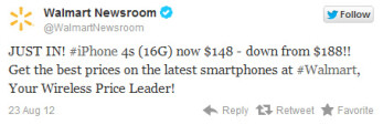Walmart slashes 16GB iPhone 4S price to $148 at some stores