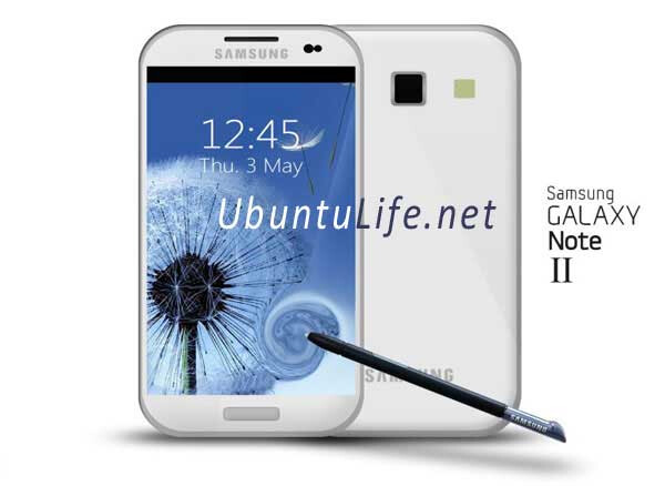 Galaxy Note II mock-up #1