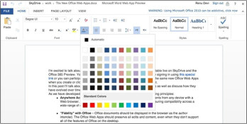 Microsoft bringing touch support to Office Web Apps on Windows 8 and iPad