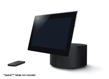 The Sony Xperia Tablet and its music stand