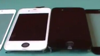 Alleged parts for the Apple iPhone 5