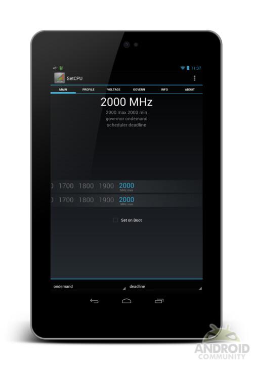 Google Nexus 7 clocked at 2.0GHz