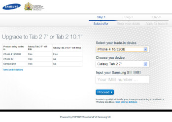 U.K. Samsung Galaxy S III and Note buyers get free Galaxy Tab 2 for trading in old smartphones