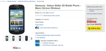 The Samsung Galaxy Stellar is now available from Best Buy Mobile with no contract