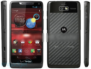 Leaked picture (L) and specs of the Motorola DROID RAZR M 4G LTE
