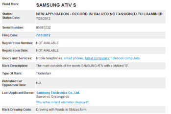 Samsung has trademarked a couple of new names