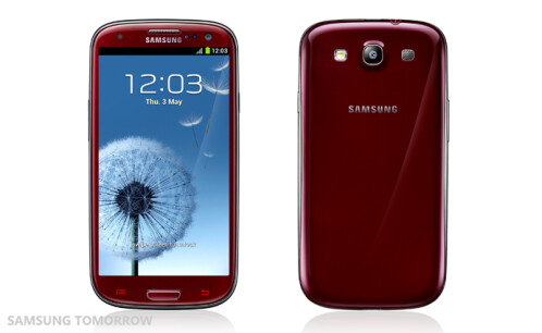 Samsung Galaxy S III in Garnet Red