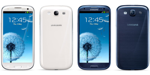 Samsung Galaxy S III existing colors: Marble White and Pebble Blue