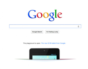 "Nexus 7 ad gets featured on Google.com: ""The playground is open"""