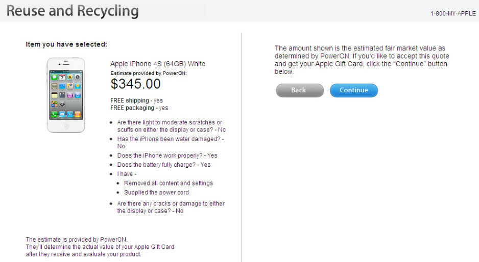 Apple wants to recycle your used iPhone 4S - Apple wants your used iPhone 4S, spares up to $345 for it