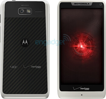 The white version of the Motorola DROID RAZR M 4G LTE