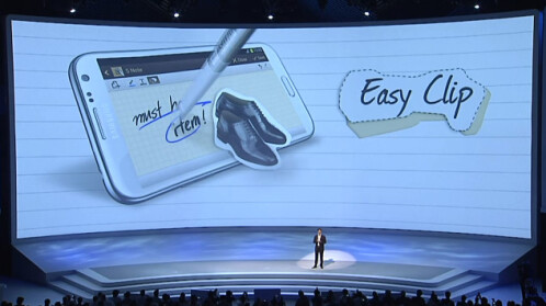 Easy Clip is just what it sounds like - encircle an object with the S Pen and you get the option to easily clip it. Neat for making small collages!