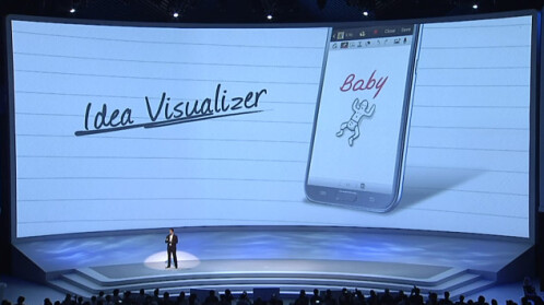 Idea Visualizer is another new feature - you write a word in a dedicated box, and the Note II will generate an image that fits with that word.