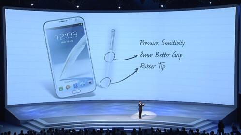 The new S Pen comes with an 8mm body for better grip and a rubber tip.