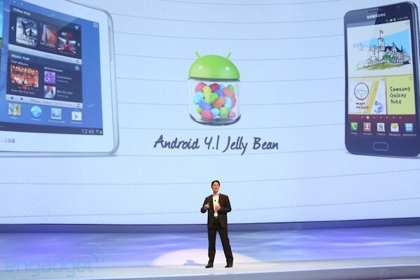 """Android 4.1 is coming """"very soon"""" to a pair of new Samsung devices - Samsung says Jelly Bean coming """"very soon"""" to Samsung Galaxy S III and Samsung GALAXY Note 10.1"""