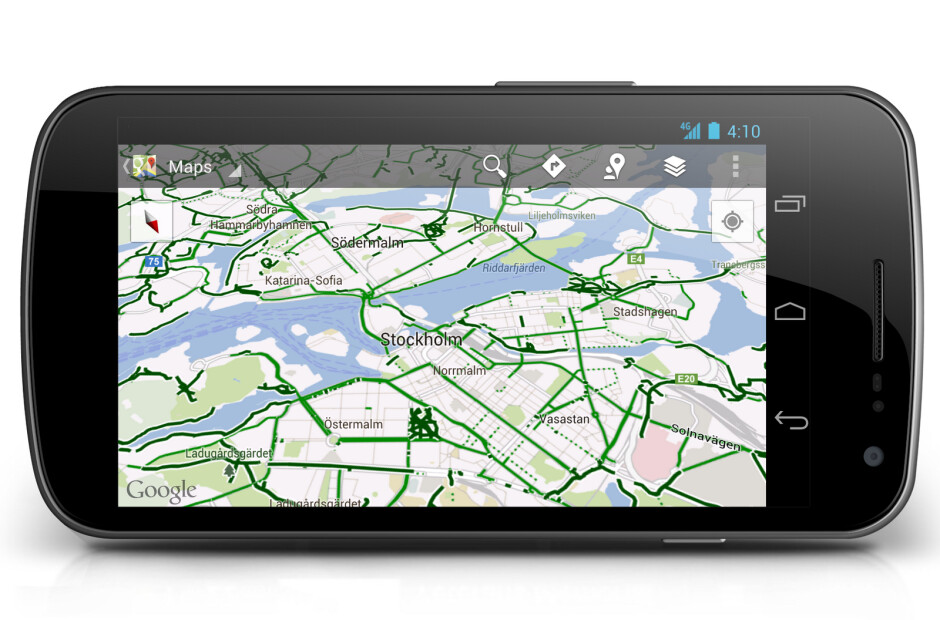 Bicycle navigation in Copenhagen and Stockholm using Google Maps Navigation (beta) (R) - Google Maps, Google Now both get updates