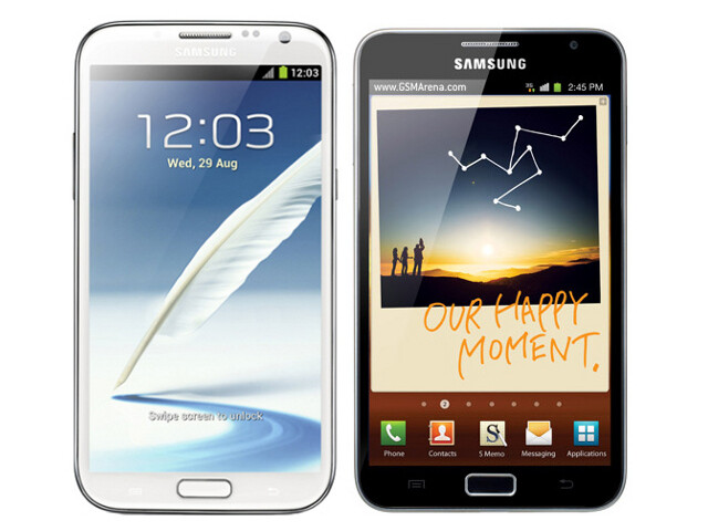 Galaxy Note II (left) next to Galaxy Note (right) - Galaxy Note II vs Note: should you upgrade?