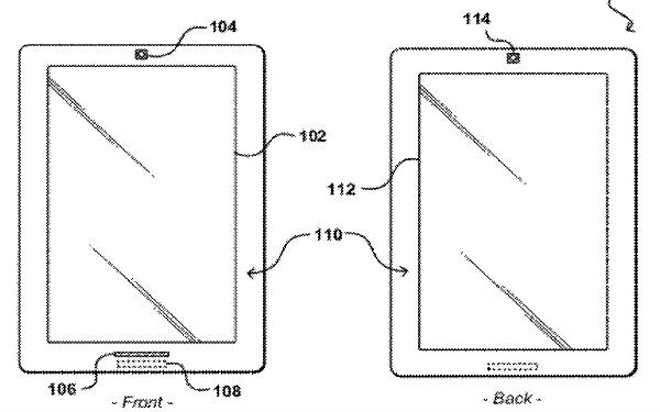 Amazon has patented a dual-screen tablet with one LCD panel on the front and a static e-ink display on back - Amazon gets patent for tablet with a screen on both front and back