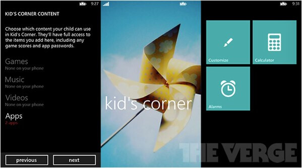 Windows Phone 8 makes space for kids