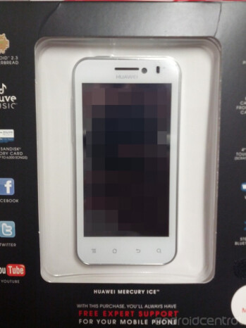 The redesigned Huawei Mercury Ice (L) is expected to be available September 5th from Radio Shack