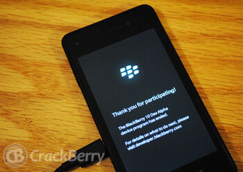 The BlackBerry 10 Dev Alpha phone